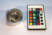 MR16 RGB LED-SPOT MIT FERNBEDIENUNG 3W